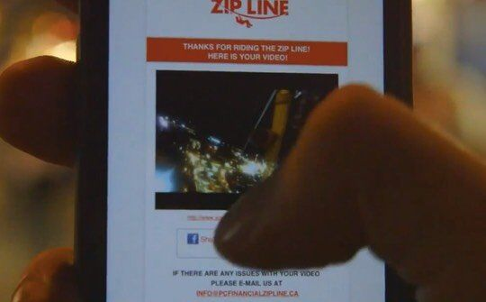 PC Financial Zipline custom email with the video