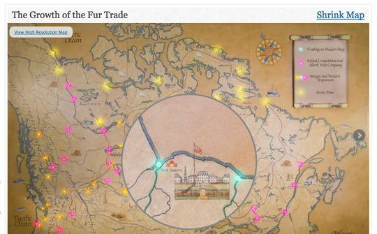 HBC Heritage the fur trade interactive exhibit