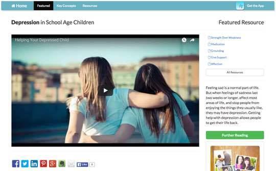 The CASA Caregiver App video pages