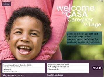 The CASA Caregiver app on the iPad