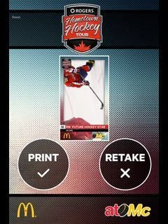 Hometown Hockey - Custom hockey card app, final results to print