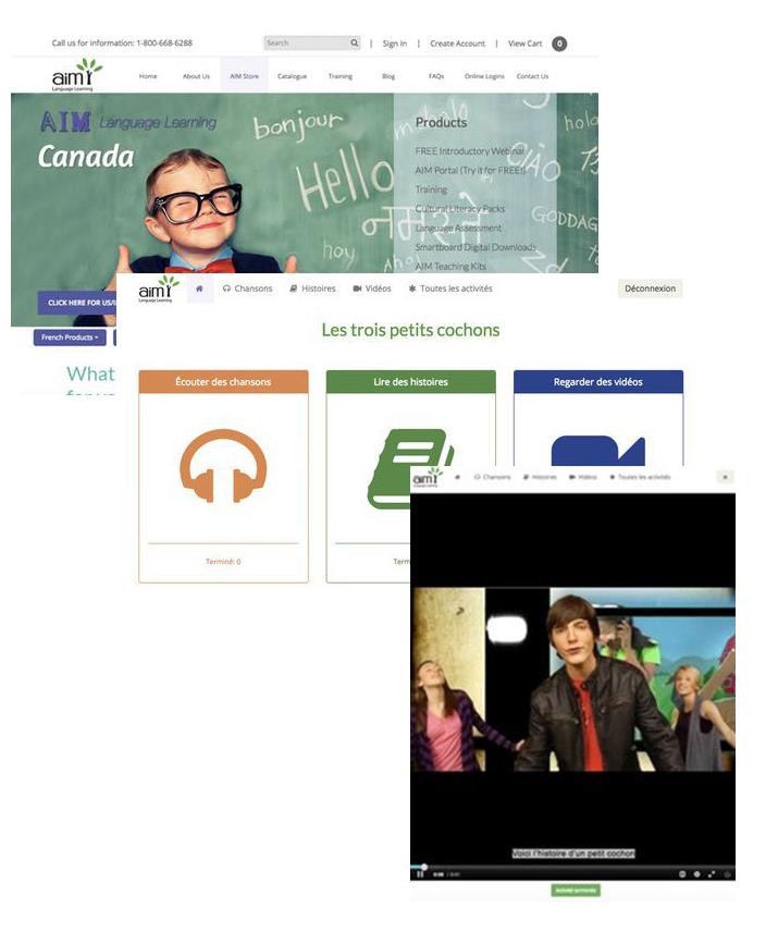 AIM Language Learning Screenshots