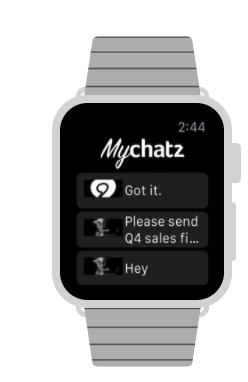 Chatz - Apple Watch screenshot