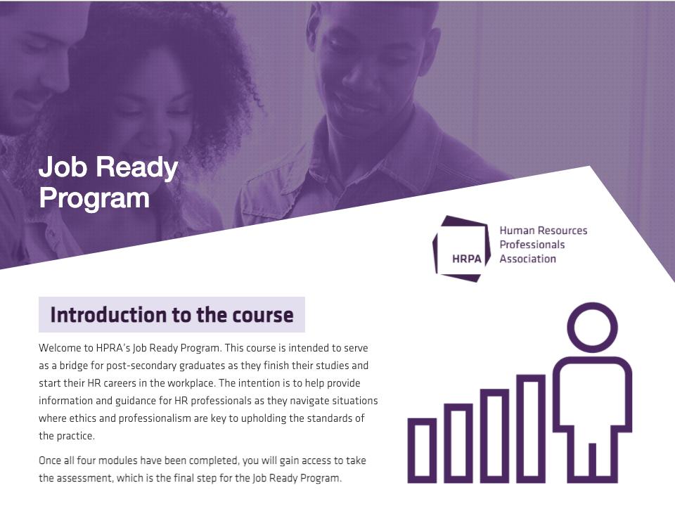 Job Ready Program - Screenshot