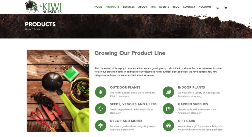 Kiwi Nurseries - Product Listing