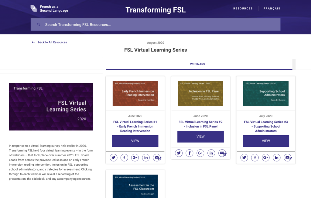 Transforming FSL - Webinars