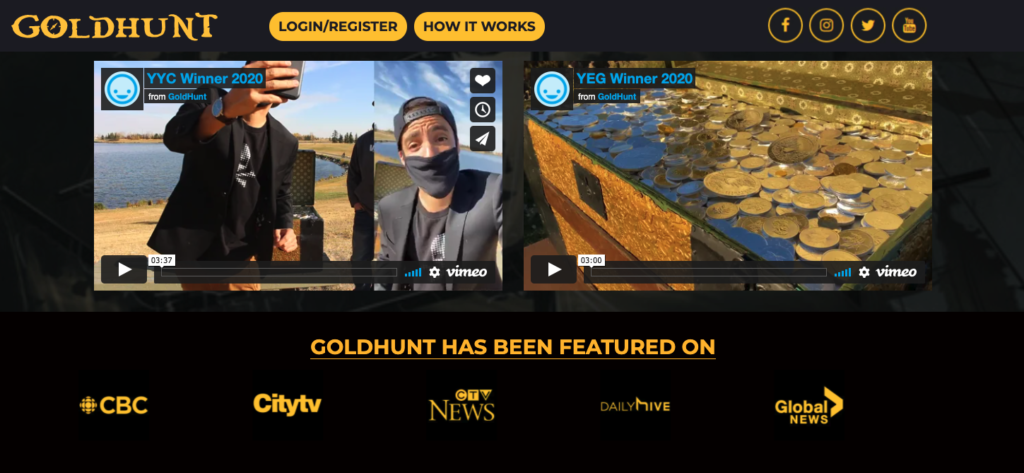 Goldhunt - Front Page