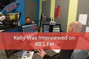 Kelly Was interviewed on 88.1 fm, Kelly John Rose & Justin Hartman sitting in radio studio talking